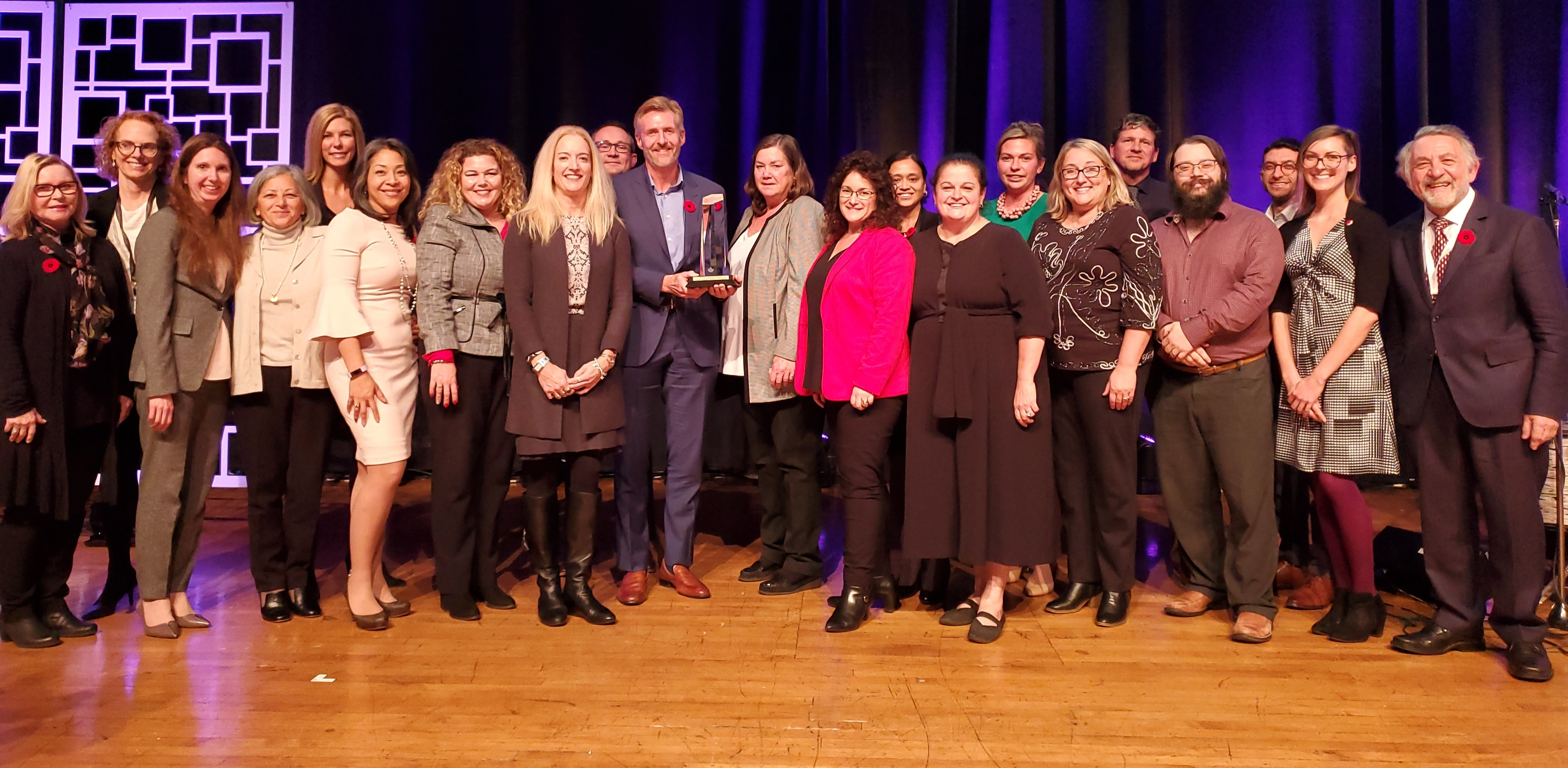 SE Health team members accept the 'Order of Excellence Award' on Tuesday, November 5,2019., at the Excellence Canada Awards in Toronto