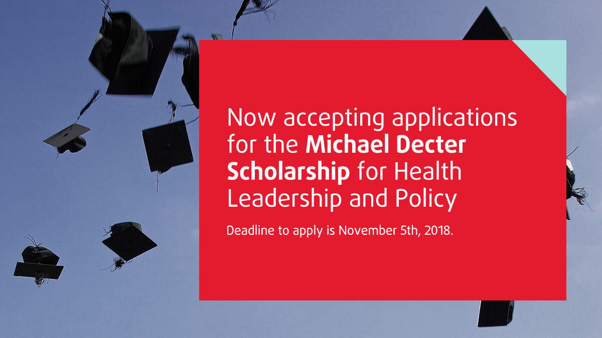 Michael Decter Scholarship Health